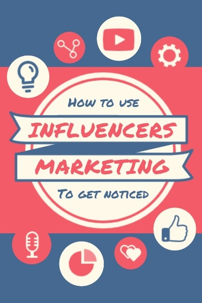 Red And Blue Influencer Marketing Blogging