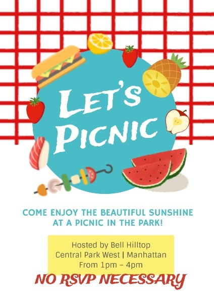 Cute Picnic Party Invite