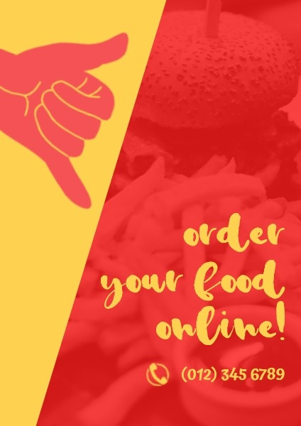Red And Yellow Food Ordering Service
