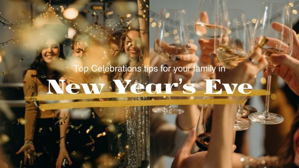 Gold New Year Party Youtube Thumbnail