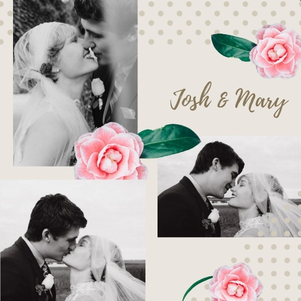 Floral Wedding Collage