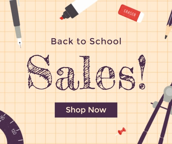 Back To School Sales Day Facebook Post