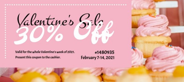 Pink Dessert House Sale Gift Certificate