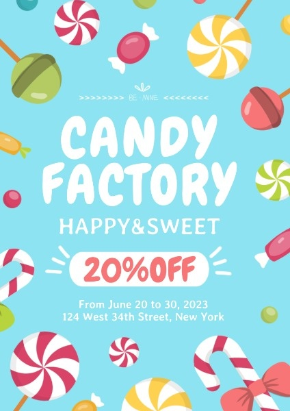 Blue Candy Store Sale