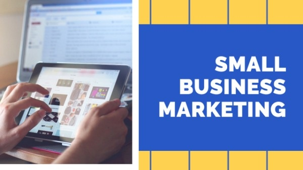 Yellow And Blue Small Business Marketing Video