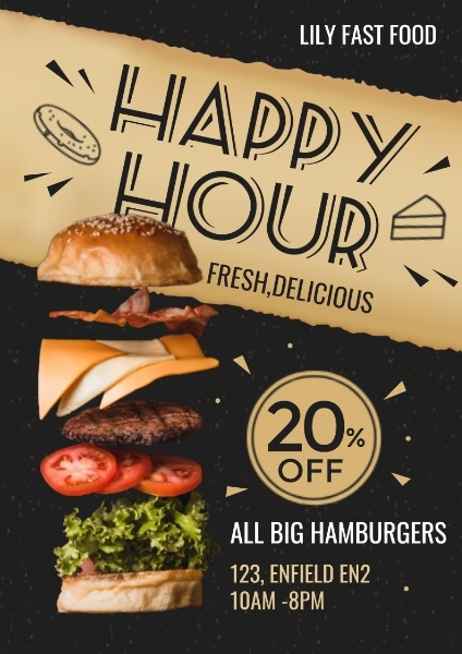 Hamburger Fast Food Discount Sale