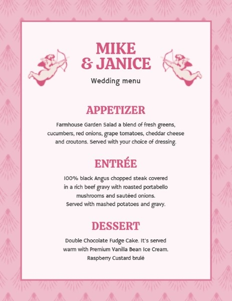 Pink Cupid Wedding