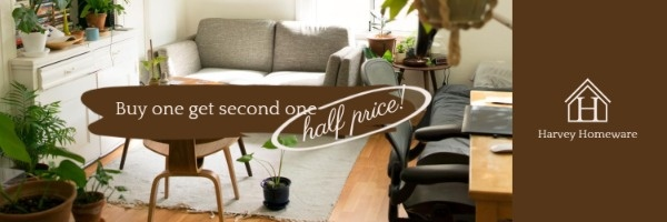 Brown Homeware Store Sale Banner