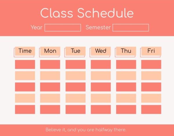 23class schedule_lsj