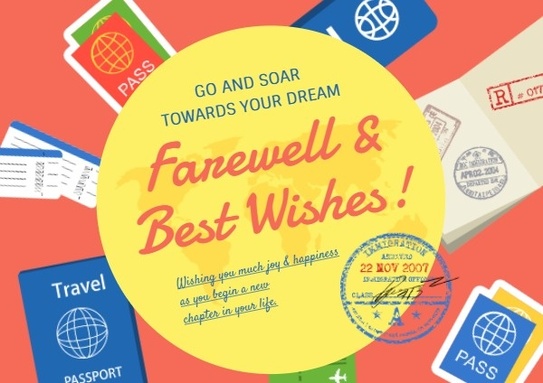 Travel Farewell Wishes