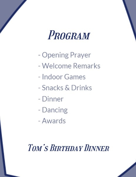 Birthday Party Agenda Template from pub-static.haozhaopian.net
