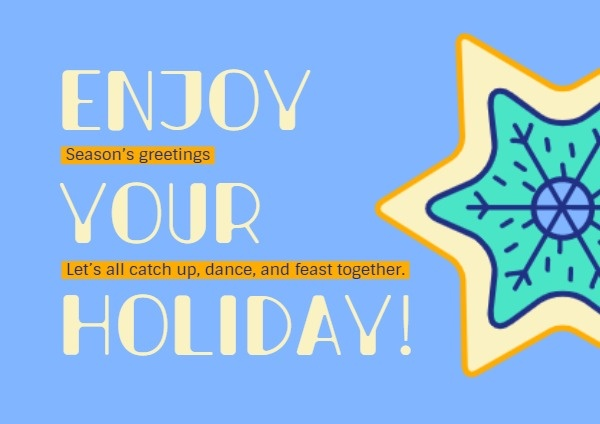 Blue Holiday Greeting Card