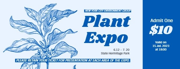Blue Plant International Expo Ticket