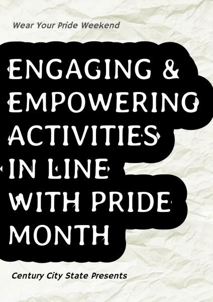 Black White Pride Month Slogan Advertisement