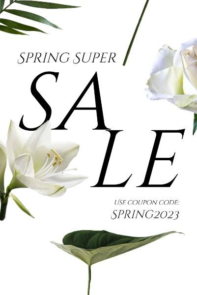 Simple Floral Spring Sale