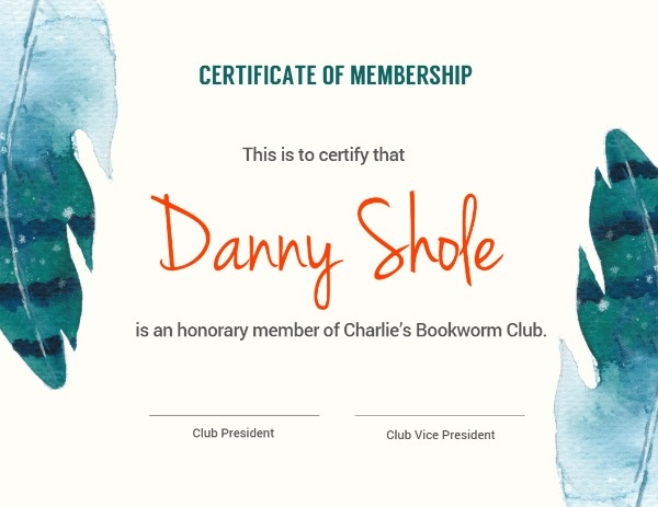 Green Bookclub Membership