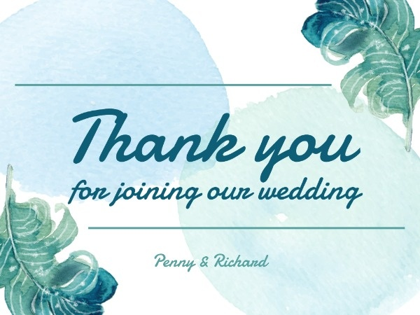 Green Watercolor Wedding Ceremony Event Program
