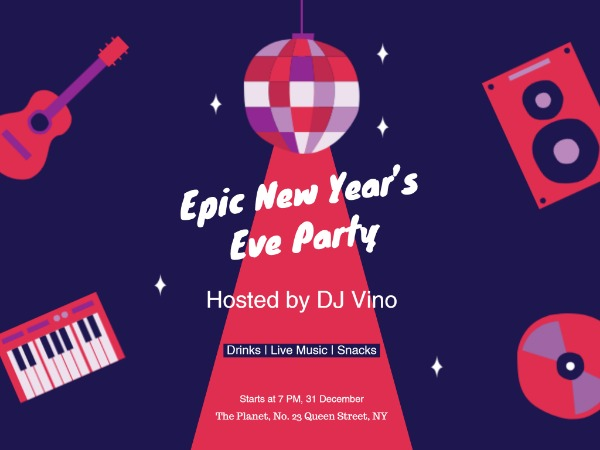 Music new year eve party