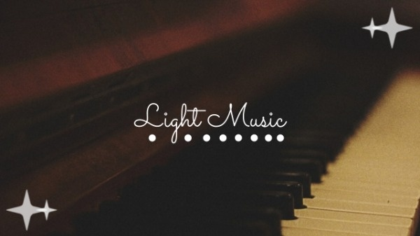 Light Music Channel YouTube Channel Art