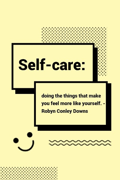 Yellow Self Care Note