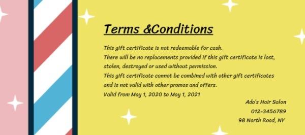 Online Hair Salon Gift Certificate Template | Fotor Design ...