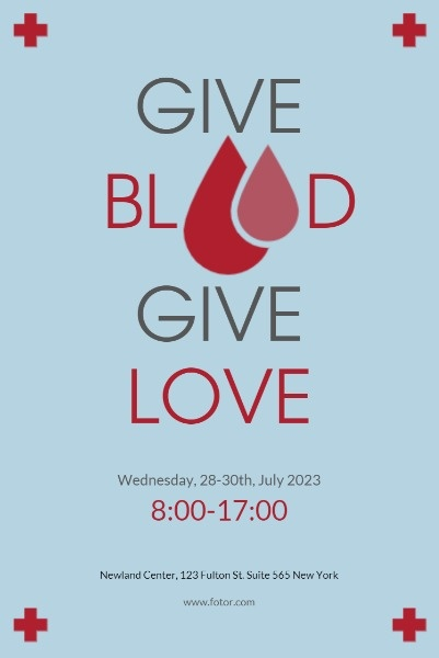 Blue Blood Donation Event