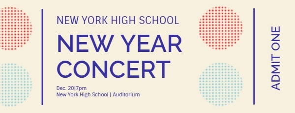 New Year Concert Ticket