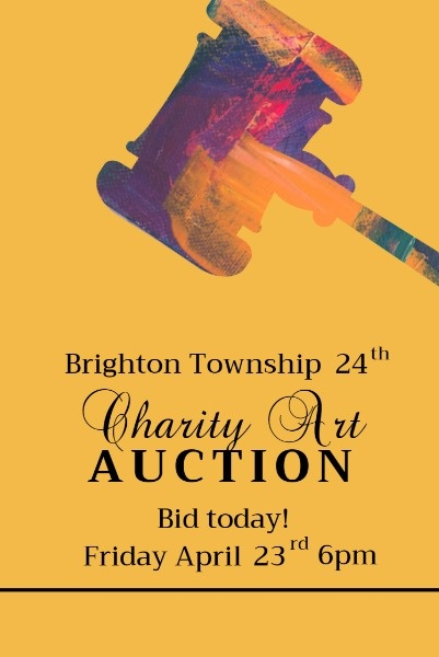 Yellow Background Of Charity Art Auction