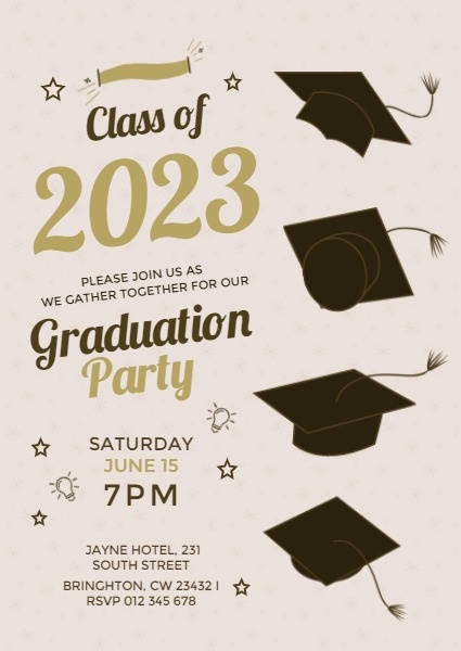 Vintage Golden Graduation Party