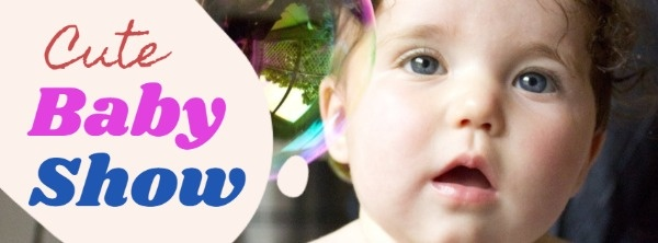 Cute Baby Show Event Banner