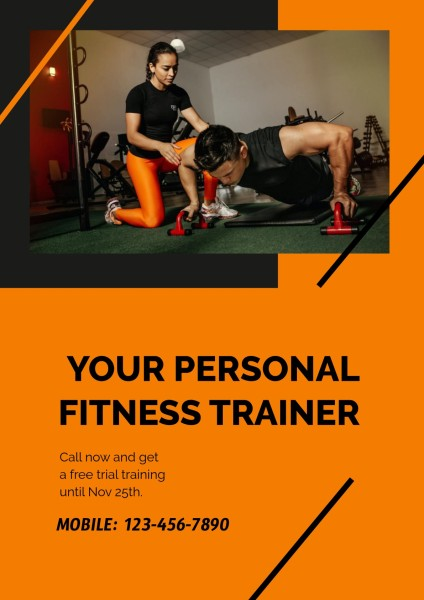 Yellow Personal Fitness Trainer