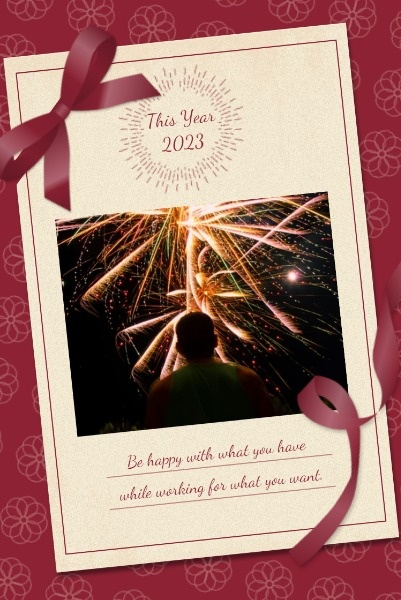 Red Background Of New Year Card