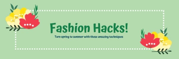 Green Fashion Haul Banner