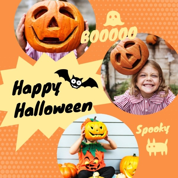 Yellow Halloween Holiday Collage