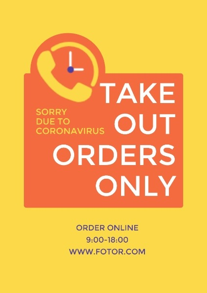 Orange Takeout Store Announcement