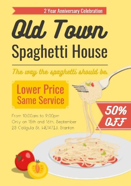 Pasta Restaurant Promotion Poster