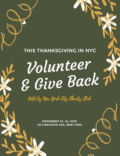 Thanksgiving Volunteer And Giveback Party