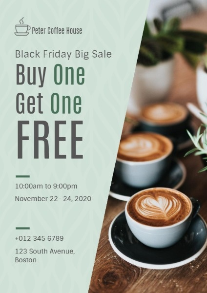 Black Friday Coffee House Sale
