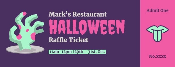Restaurant Halloween Night Raffle