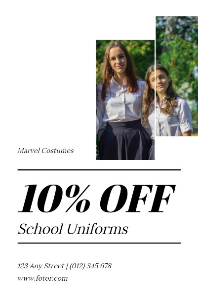 White And Black School Uniform Sale