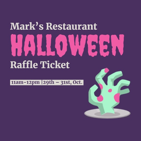 Dark Purple Halloween Raffle