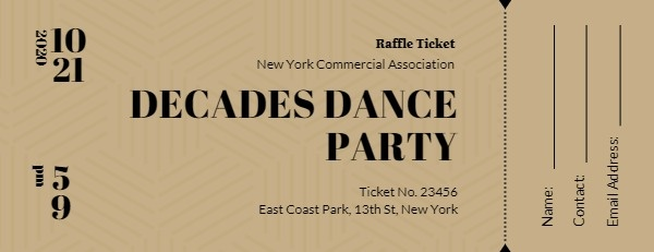 Dance Party Ticket