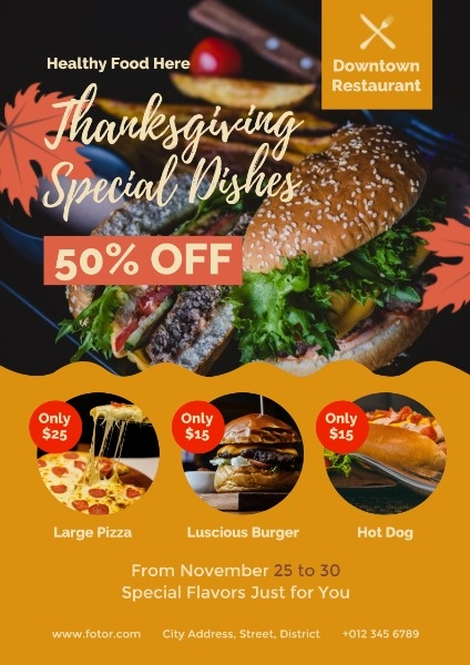 Black Thanksgiving Special Dishes Sale