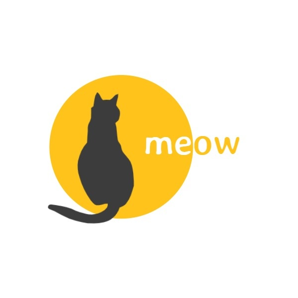 Cute Cat Icon Logo