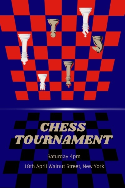 Blue And Red Chess Tournament