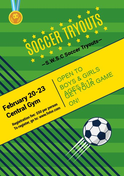 Green Soccer Tryouts