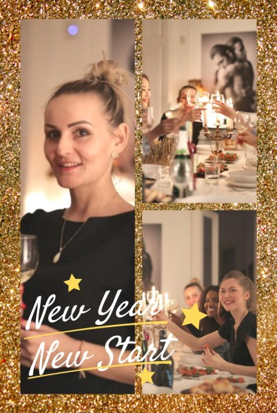 Gold New Year Dinner Pinterest Post