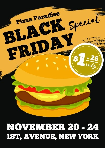 Black Friday Hamburger Sale