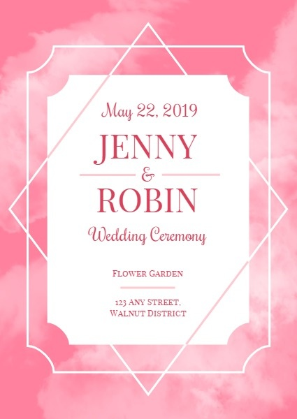 Pink Clouding Wedding Program