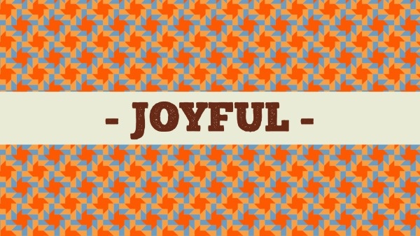 Orange Joyful Background